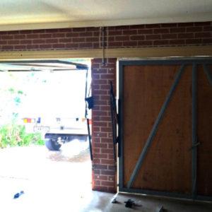 Tilting Garage Door